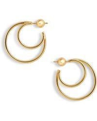 Sophie Buhai - Double Layer Hoop Earrings - Lyst