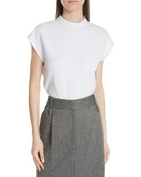 Tibi - Structured Crepe Top - Lyst