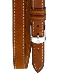 Michele - 16mm Leather Double Wrap Watch Strap - Lyst