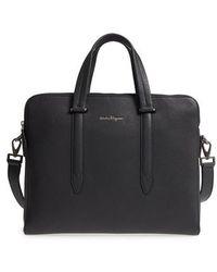 Ferragamo | Firenze Leather Briefcase | Lyst