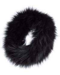 ef925b5c5c4 Lyst - Tasha Tarno Nylon   Genuine Fox Fur Trapper Hat in White