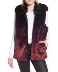 Heurueh - Ryan Ombre Faux Fur Hooded Vest - Lyst