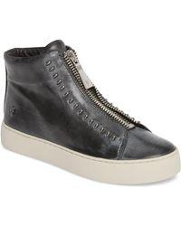 Frye - Lena Zip High Top Leather Sneakers - Lyst