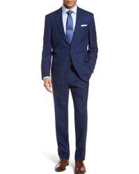 Peter Millar | Classic Fit Windowpane Wool Suit | Lyst