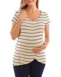 47ba85e7c4fd5 Everly Grey - Jonelle Stripe Nursing/maternity Top - Lyst