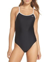 Nike - Crossback Cutout One-piece Swimsuit - Lyst