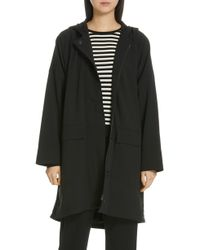 Eileen Fisher - Hooded A-line Coat - Lyst