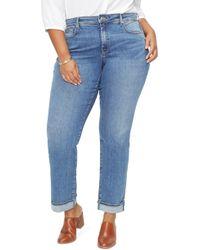 NYDJ - Marilyn Cuffed Straight Leg Jeans - Lyst
