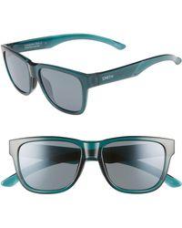6e04cc3e713 Smith - Lowdown Slim 2 53mm Chromapop(tm) Polarized Square Sunglasses - -  Lyst