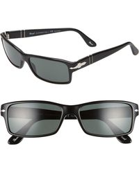 Persol - 57mm Polarized Rectangle Sunglasses - Lyst