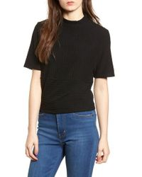 Project Social T - Mock Neck Ribbed Top - Lyst