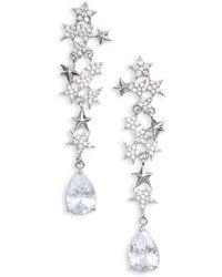 Jenny Packham - Star Crystal Earrings - Lyst