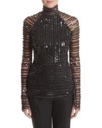 Rachel Gilbert - Tuulia Sequin Stripe Bell Sleeve Top - Lyst
