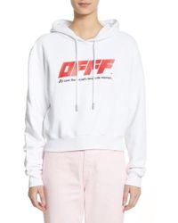 Off-White c/o Virgil Abloh - White Off Printed Hoodie - Lyst
