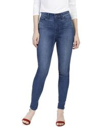 PAIGE - Transcend - Margot High Waist Ultra Skinny Jeans - Lyst