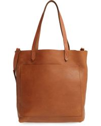 Madewell - Medium Leather Transport Tote - Lyst