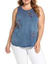 Lucky Brand - Star Embroidered Tank - Lyst
