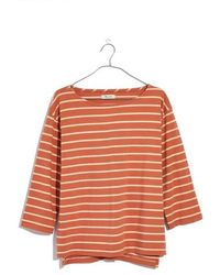 Madewell - Stripe Boat Neck Top - Lyst