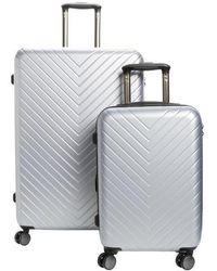 Nordstrom - Chevron 29-inch & 20-inch Spinner Luggage Set - Metallic - Lyst