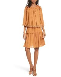 See By Chloé - Pleated Popover Dress - Lyst