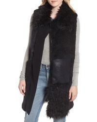 Heurueh - Kimmy Patchwork Faux Fur & Faux Suede Vest - Lyst