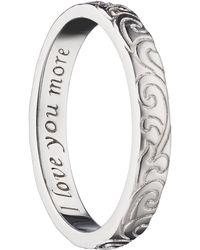 Monica Rich Kosann - Love You More Scrollwork Poesy Ring Charm - Lyst
