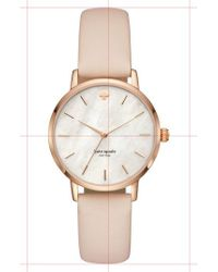 Kate Spade | Metro Leather Strap Watch | Lyst