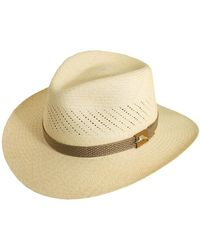 59a2605aa9755 Lyst - Tommy Bahama Safari Panama Straw Fedora in Natural for Men