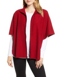 Anne Klein - Zip Front Wool Cape - Lyst