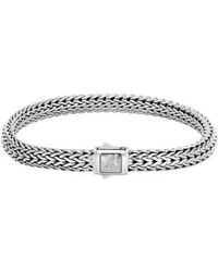 John Hardy - Classic Chain Medium Hammered Clasp Bracelet - Lyst