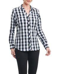 Foxcroft - Mary Buffalo Check Crinkle Shirt - Lyst