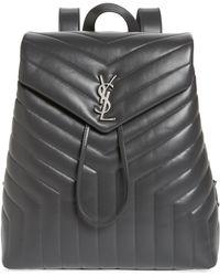Saint Laurent - Medium Loulou Calfskin Leather Backpack - - Lyst