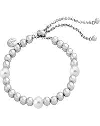 Majorica - Simulated Pearl & Bead Bracelet - Lyst