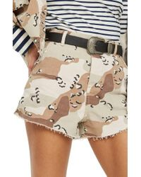TOPSHOP | Spot Camouflage Utility Shorts | Lyst