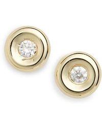 Roberto Coin - Tiny Treasures Diamond Stud Earrings - Lyst