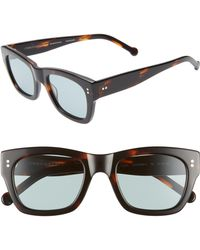 Colors In Optics - Panther 51mm Mirrored Rectangular Sunglasses - Lyst
