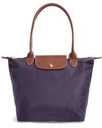 Longchamp - 'small Le Pliage' Tote - Purple - Lyst