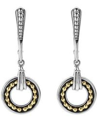 Lagos - Enso Two Tone Drop Earrings - Lyst
