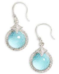Armenta - New World Diamond & Turquoise Drop Earrings - Lyst