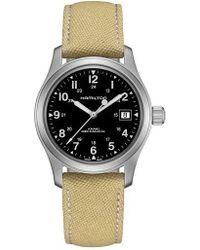 Hamilton   Khaki Field Canvas Strap Watch   Lyst