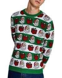 Lyst Tj Maxx Pug Elf Christmas Sweater In Blue For Men