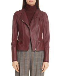 Lafayette 148 New York - Trista Lambskin Leather Jacket - Lyst
