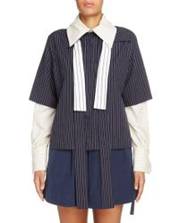 JW Anderson - Double Layer Tie Neck Blouse - Lyst