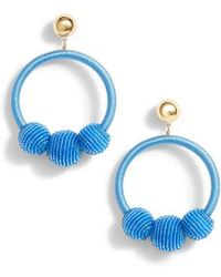 Kate Spade The Bead Goes On Hoop Statement Earrings Lyst