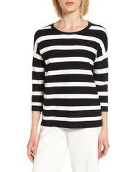 Anne Klein | New York Stripe Crewneck Sweater | Lyst