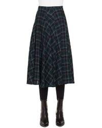 Akris Punto - Brit Check Midi Skirt - Lyst