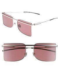 Calvin Klein   56mm Butterfly Sunglasses - Nickel   Lyst