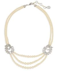 Ben-Amun - Faux Pearl Multistrand Necklace - Lyst