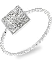 Bony Levy - Aurora Diamond Pave Square Ring (nordstrom Exclusive) - Lyst