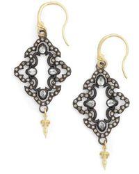Armenta - Old World Open Scroll Drop Earrings - Lyst
